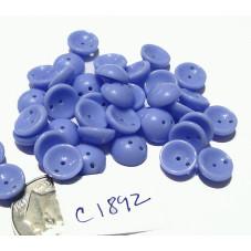 C1892  Czech Glass 2-hole Piggy Bead LIGHT CORNFLOWER  8mm