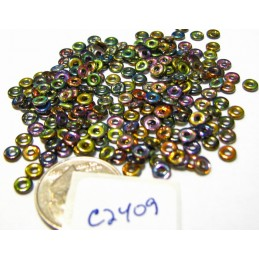 C2409 Czech Glass O Ring Bead Bead MAGIC COPPER 3mm