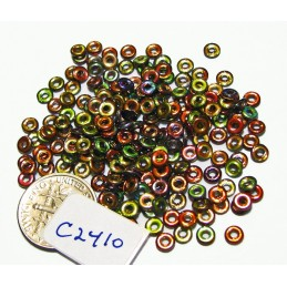 C2410 Czech Glass O Ring  MAGIC WINE 3mm