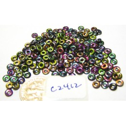 C2412 Czech Glass O Ring Bead Bead MAGIC PURPLE 3mm