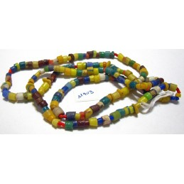 M903 African Sandcast Glass Handmade Beads Small ASSORTED
