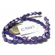 C3227 Czech Glass Pinch Beads METALLIC  CROCUS PETAL  3x5mm