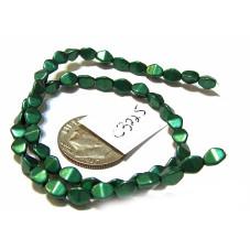 C3225 Czech Glass Pinch Beads METALLIC  MARTINI OLIVE  3x5mm