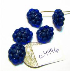 C4446 Czech Glass Beads Grapes COBALT