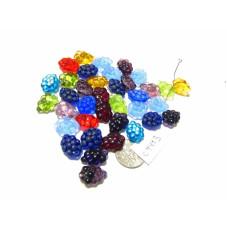 C4443 Czech Glass Beads Grapes  RANDOM MIX