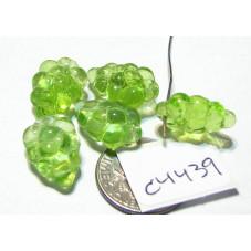 C4439 Czech Glass Beads Grapes LIGHT GREEN