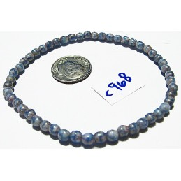 C968 Czech Glass Faceted Round RED BLUE 4mm