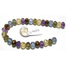 C3705 Czech Glass Faceted Rondelle Beads LUMI MIX  6x9mm