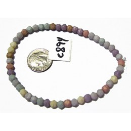 C894 Czech Glass Round Bead PASTEL GEMSTONE ETHEREAL ANTIQUE 4mm