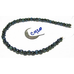 C920 Czech Faceted Round Bead OPAQUE SAPPHIRE PICASSO 4mm