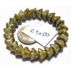 C3050 Czech Glass Bellflower Bead PICASSO