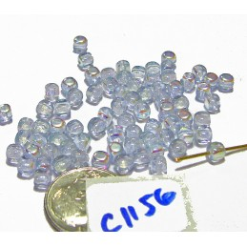 C1156 Czech Glass Cube ALEXANDRITE AB 4mm