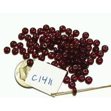 C5283 Czech Glass Rondelle DARK RUBY 4mm