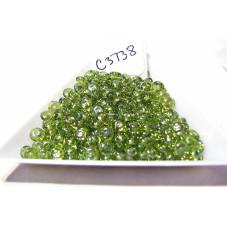 C3738 Czech Rondelle Bead OLIVINE SHIMMER 4mm