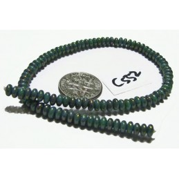 C552 Czech Glass Rondelle  TURQUOISE BRONZE PICASSO 4mm