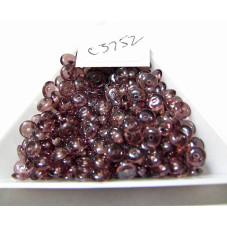 C3752 Czech Glass Rondelle Bead DARK AMETHYST SHIMMER 5mm