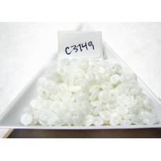 C3749 Czech Glass Rondelle Bead MILKY WHITE 5mm