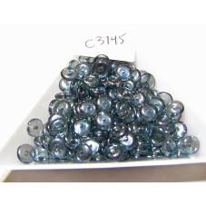 C3745 Czech Glass Rondelle DARK LUMI BLUE  6mm