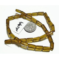 M199 Glass Tube Bead HONEY 10x4mm