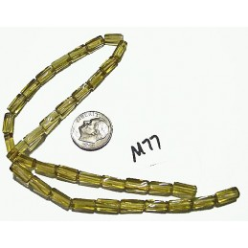 M77 Glass Twisted Square Tube LIGHT HONEY 10x4mm