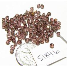 S1846 Swarovski Crystal Bicone Bead LIGHT ROSE SATIN 3mm