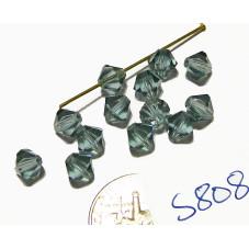 S808 Swarovski Bicone Bead INDIAN SAPPHIRE 5mm