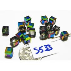 S533 Swarovski Cube 5601 VITRAIL MEDIUM 6mm