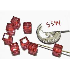 S394  Swarovski Cube 5601 INDIAN PINK 4mm