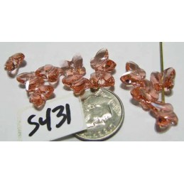 S431 Swarovski Butterfly Bead 5754 ROSE PEACH 8mm