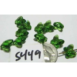 S449 Swarovski Butterfly Bead 5754 FERN GREEN 8mm