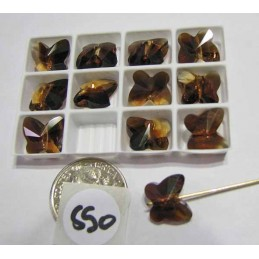 S50 Swarovski Butterfly Bead 5754 TOPAZ BLEND 10mm
