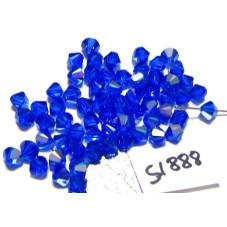 S1888 Swarovski Bicone Bead MAJESTIC BLUE AB  5mm