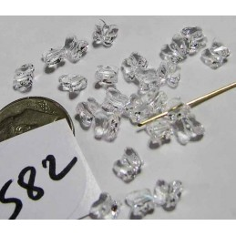 S82 Swarovski Butterfly Bead 5754 CRYSTAL 5mm