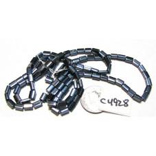 C4928 Czech Glass Baby Pillow Bead DARK GREY 3.5x5mm