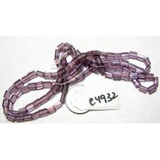 C4932 Czech Glass Baby Pillow Bead  PURPLE 3x5mm