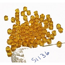 S1136 Swarovski Crystal Bicone Bead SUNFLOWER 4mm