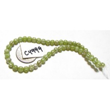 C4999 Czech Glass Melon Bead MOSS GREEN w/ MERCURY FINISH  4mm