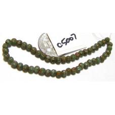 C5007 Czech Glass Melon Bead SEA GREEN PICASSO  3mm