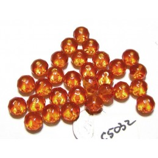 C5032 Czech Glass Faceted Rondelle Beads FIRE OPAL  6x9mm