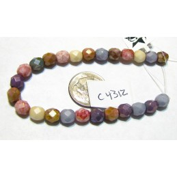 C4312 Czech Faceted Round  Fire Polished OPAQUE LUSTER MIX 4mm