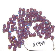 S1944 Swarovski Crystal Bicone Bead CYCLAMEN OPAL SHIMMER 5mm