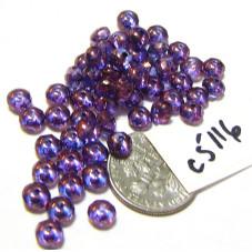 C5116 Czech Glass Faceted Rondelle Beads LUMI AMETHYST  3x5mm