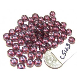C5123 Czech Glass Faceted Rondelle Beads AMETHYST SHIMMER  4x7mm