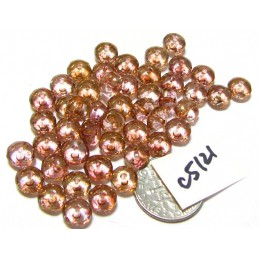 C5121 Czech Glass Faceted Rondelle Beads LUMI PINK  4x7mm
