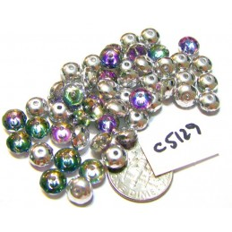 C5129 Czech Glass Faceted Rondelle Beads VITRAIL  4x7mm