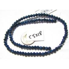 C5218 Czech English Cut  Bead METALIC DARK BLUE SUEDE  4mm
