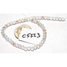 C5223 Czech English Cut Bead CRYSTAL AB 3mm