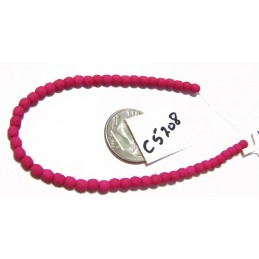 C5208 Czech Glass Faceted Round MATTE SATURATED FUCHSIA 3mm