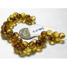 C2395 Czech Glass Mushroom Beads CRYSTAL PICASSO 5x6mm