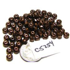 C5254 Czech Glass Faceted Rondelle Beads DARK BRONZE  3x5mm